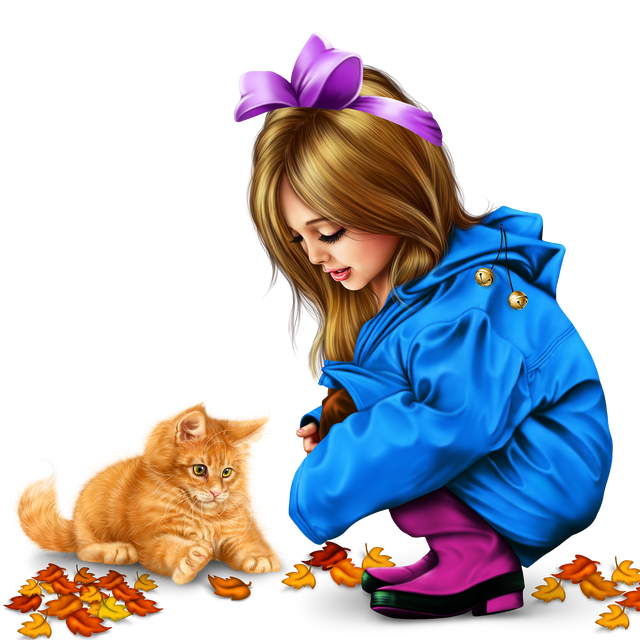 little-girl-in-raincoat-with-a-kitty-png-23467eba85d25862c4.png