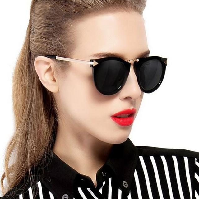 592ffeeb1f    Cat Eye Sunglasses Women Oversized Mirror Fashion Plastic Lens Frame  Large Flat