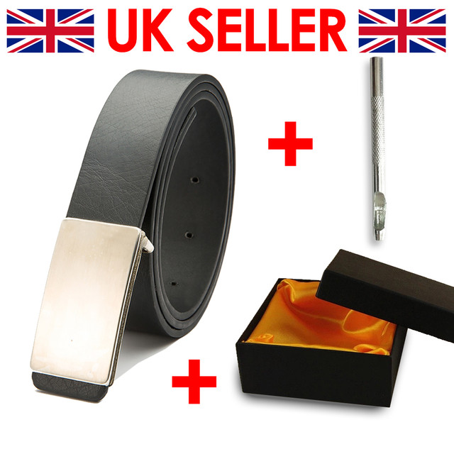 Gift Box Hole Puncher Tool Mens Leather Belt Metal Plated