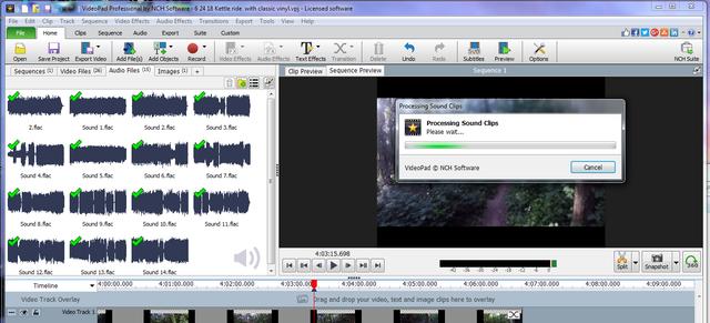 processing audio