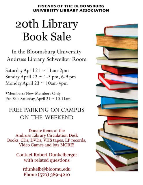 2018 Spring Book Sale Flyer