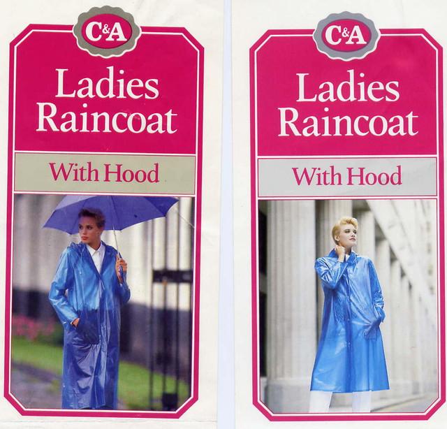 C A plastic raincoats