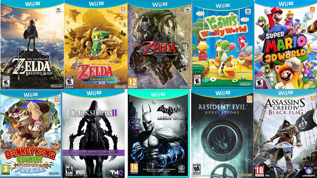Top Wii U Game Collection (USA Loadiine) tested Cemu 1 11 Emulator on PC