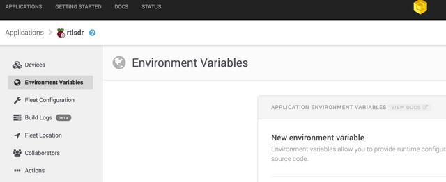 app variables