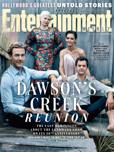 ew dawsonscreek april2018 cover cast