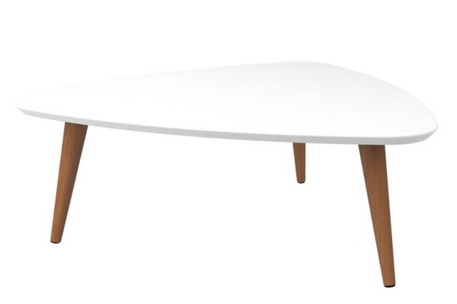Triangle Cocktail Coffee Table Fashionable Classy Wood Modern