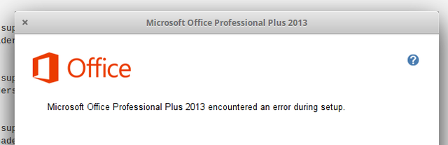 microsoft office professional plus 2010 encountered an error during setup