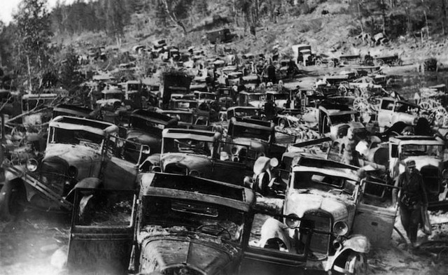 GAZ AA abandoned destroyed during Soviet retreat Karelia