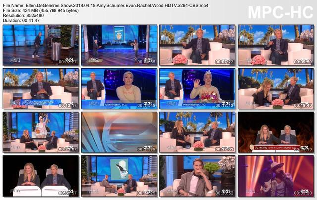 Ellen DeGeneres Show 2018 04 18 Amy Schumer Evan Rachel Wood HDTV x264-CBS mp4
