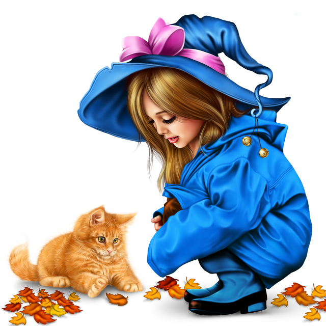 little-girl-in-raincoat-with-a-kitty-png-217ee9294b7d36ea27.png