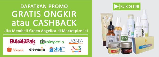 promo green angelica free gratis ongkir di tokopedia lazada bukalapak blibli dan shopee