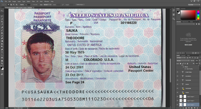 USA passport PSD Template | Carding forum, Carder Forum, Altenen.com ...