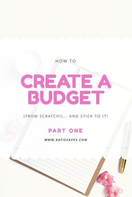 how to create a budget from scratch