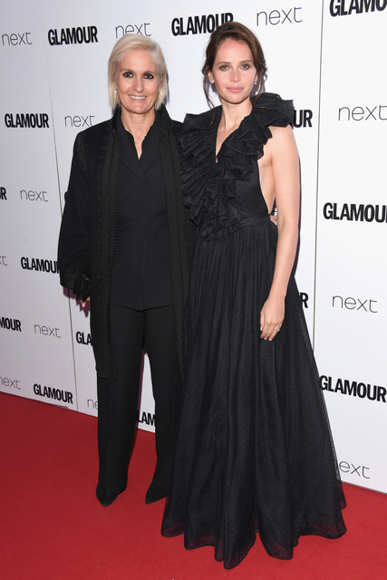 LONDON ENGLAND JUNE 06 Maria Grazia Chiuri and Felicity Jones attend the Glamour Women of The Year a