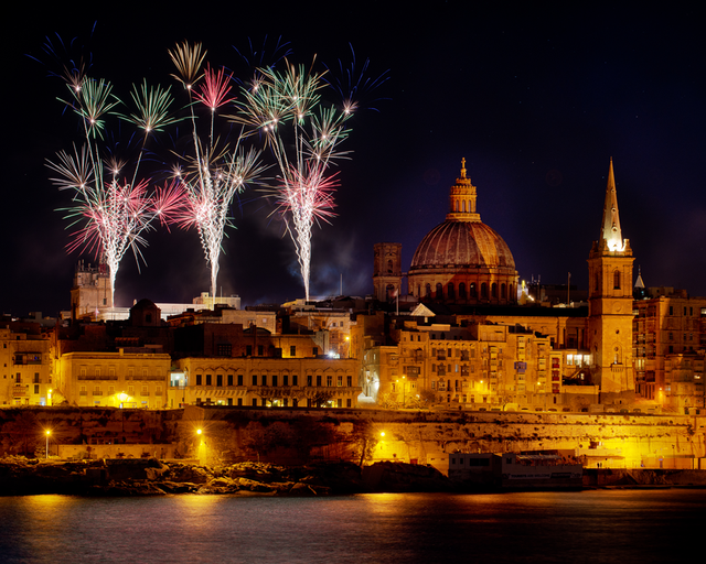 New years fireworks valletta malta