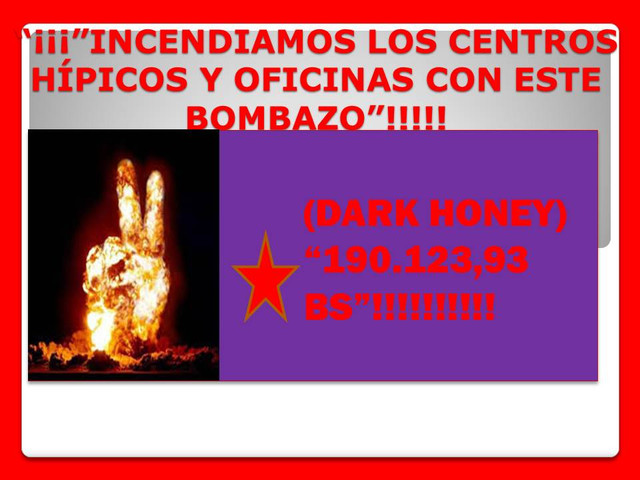 *********(((((((((((ESPECIAL ABIERTO EN LA RINCONADA))))))))*********** DARK_HONEY