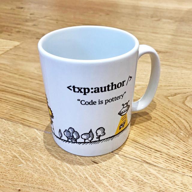 Textpattern printed mug side 2