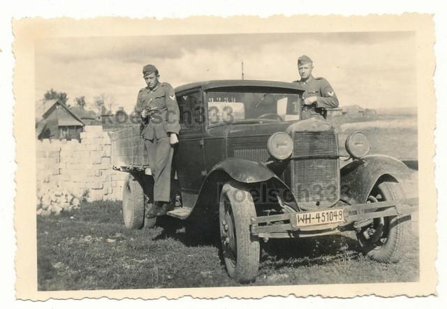 GAZ AA captured Russian truck in german use near Shimsk Novgorod