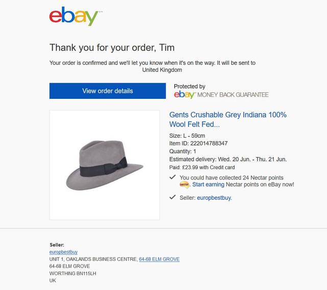 Screenshot 2018 6 18 Order confirmed Gents Crushable Grey tim mugshot gmail com Gmail