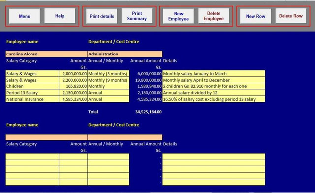 Calculadora de Sueldos y Salarios full screenshot