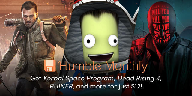 HumbleBundle Monthly - A curated bundle of games sent to your inbox every month. Get over $100 in games for just $12.