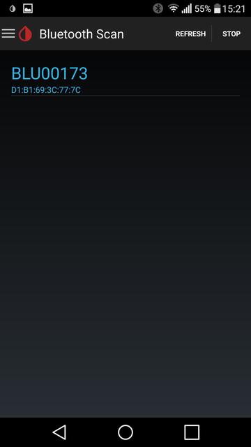 Screenshot x Drip Blu Con Bluetooth Scan