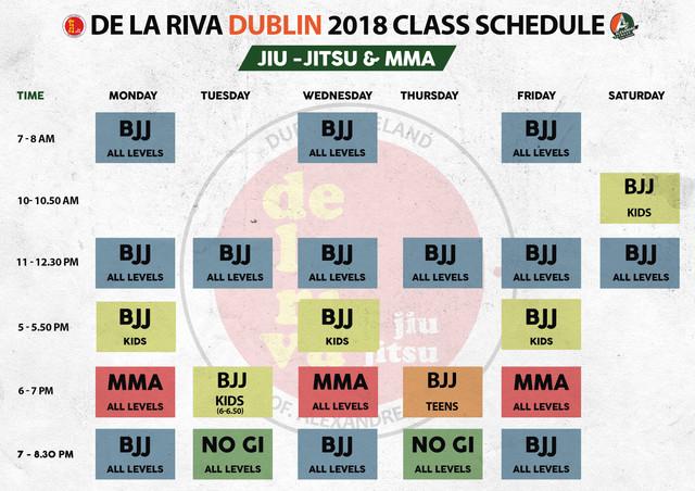 Alex Timetable 2018