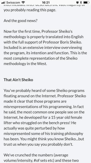 KIZEN Sheiko Programs - page 1 - Universal Topics - Sheiko Forum