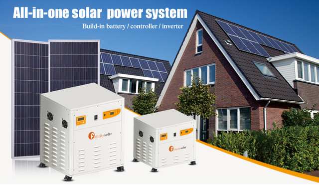 Details about 5KVA 110VAC/220VAC ALL IN ONE Solar panel solar energy system  DIY KIT