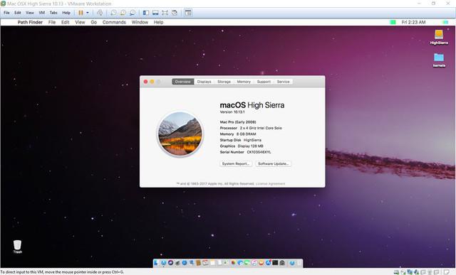 High Sierra 10 13 1 VM for VMWare Player 14 for Ryzen/FX/APU
