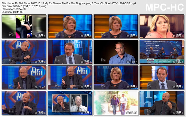 Dr Phil Show 2017 10 13 My Ex Blames Me For Our Dog Napping 8 Year Old Son HDTV x264-CBS
