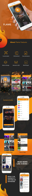 Flame Mobile Bundle Applications Viral Media /News/Music/Video /Quizzes Script - 2