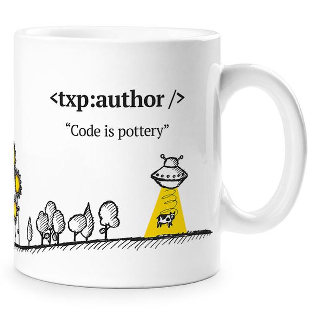Textpattern mug side 2