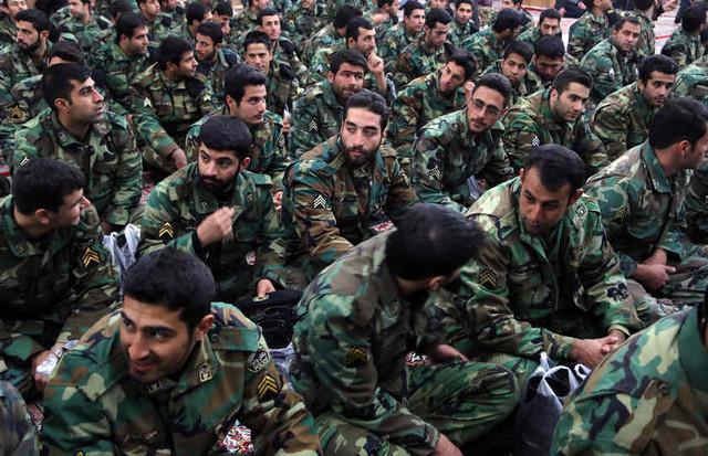 Irans Revolutionary Guards at the Khomeini mausoleum in Teheran January 31 2013