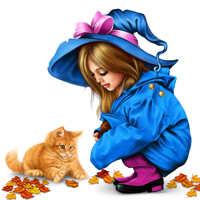 little-girl-in-raincoat-with-a-kitty-png-22f475b73fa0c516dc.png