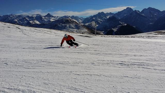 Skiër in skigebied Sölden