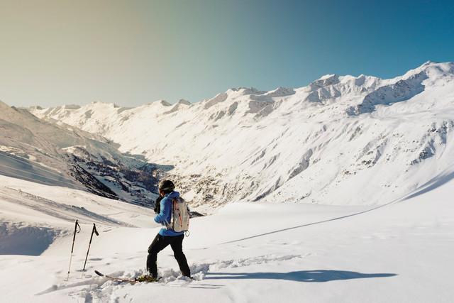 Off-piste skiër skigebied Tirol