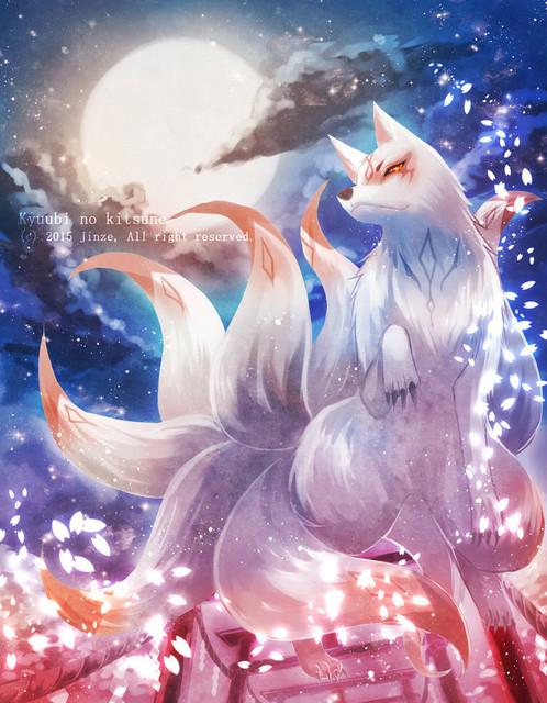 2 Silver Fox Kitsune