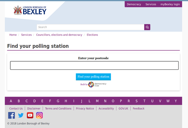 Bexley website