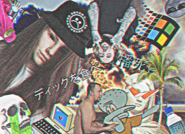 create a webpunk collage
