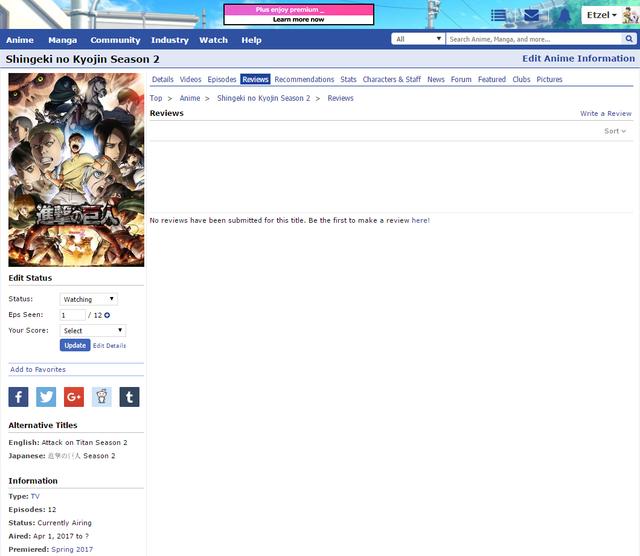 Shingeki no Kyojin S2 Reviews