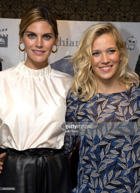 BUENOS AIRES ARGENTINA APRIL 12 L R Amaia Salamanca and Luisana Lopilato attend a press conference f