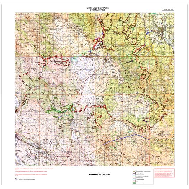 op ina Kupres minski kontaminirana podru ja mapa