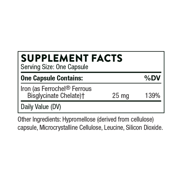 Iron_Bisglysinate_Supplement_Facts