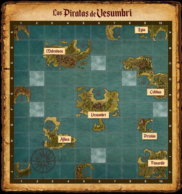 Los piratas de Vesumbri Mapa