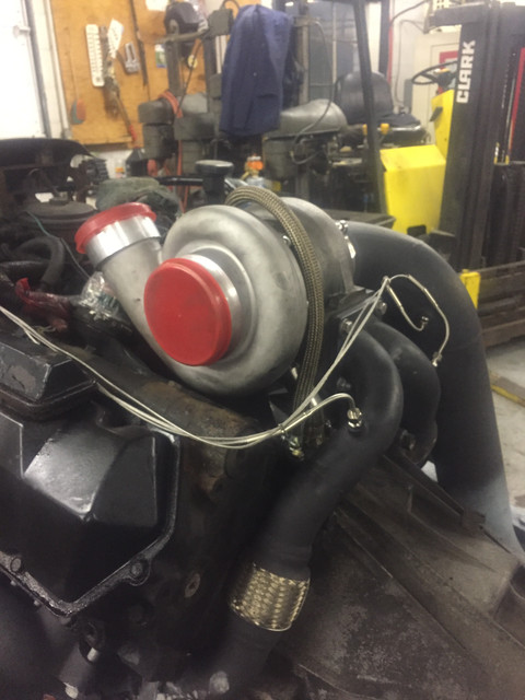 Diy T4 Mount And Chinese Quot Gt45 Quot Ford Powerstroke Diesel