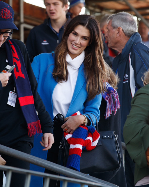 EXCLUSIVE-Delta-Goodrem-donned-her-red-and-blue-colours-as-she-was-spotted-barracking-on-her-brother
