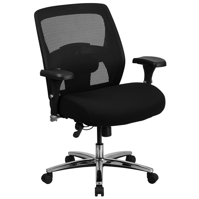 HERCULES Series 24 7 Intensive Use Big Tall 500 lb Rated Black Mesh Executive Swivel Chair Home
