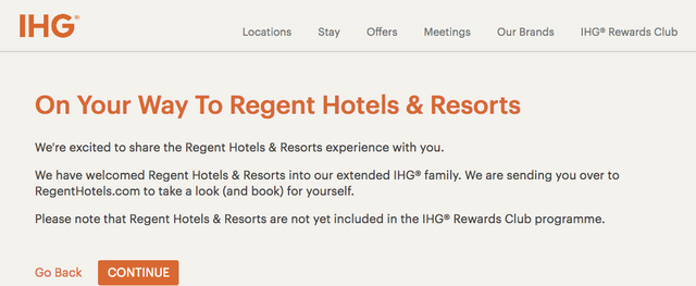IHG Acquires Regent Hotels, IC Hong Kong being re-branded in