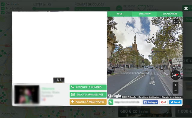 Le Street View de la Carte des Colocs
